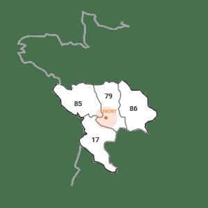 Carte situation - Esquive Incendie Niort (79)