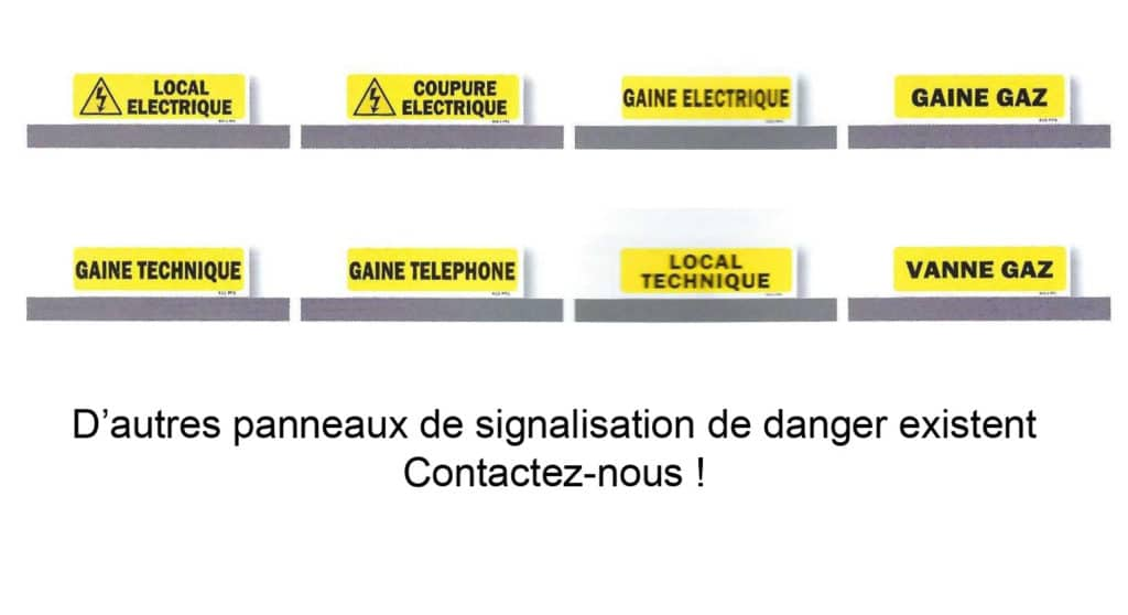 Panneaux danger - Esuive Incendie - Niort (79)