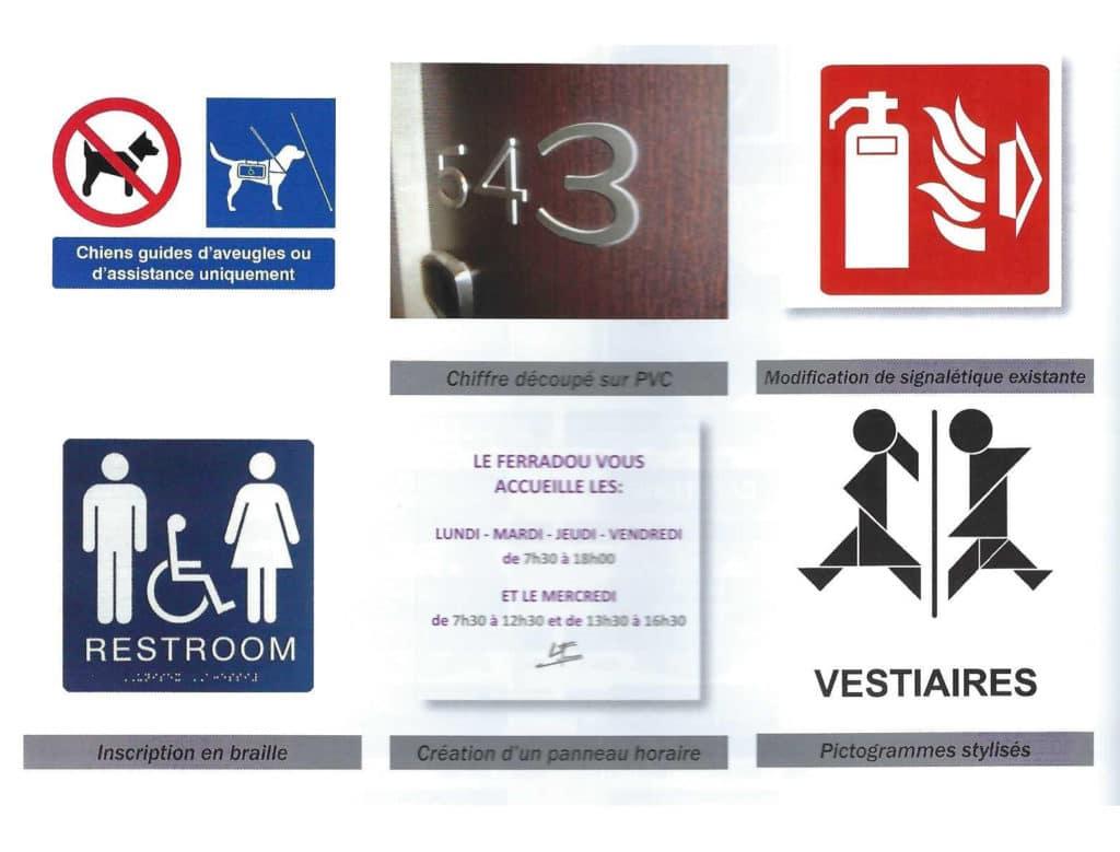 Signalisation personnalisée - Esquive Incendie - Niort (79)